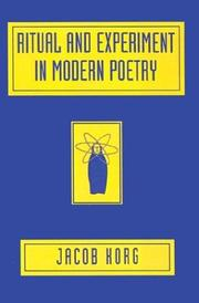 Cover of: Ritual and experiment in modern poetry