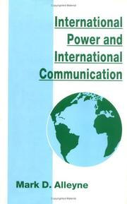 Cover of: International power and international communication