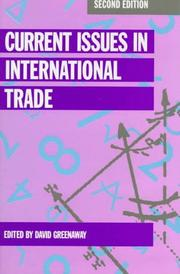 Cover of: Current issues in international trade |