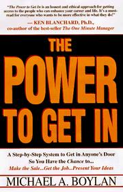 Cover of: The Power to Get In