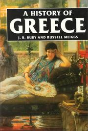 Cover of: History of Greece by J. B. (John Bagnell) Bury