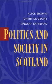Cover of: Politics and Society in Scotland
