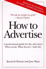 Cover of: How to Advertise
