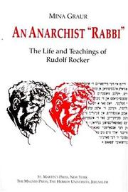 "Cover of: An anarchist ""rabbi"""