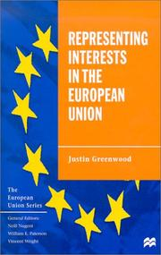 Cover of: Representing interests in the European Union