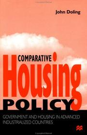 Cover of: Comparative housing policy
