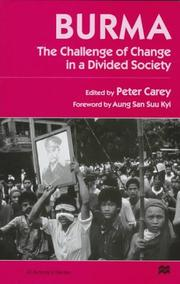 Cover of: Burma: The Challenge of Change in a Divided Society (St. Antony's Series)