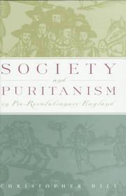 Cover of: Society and Puritanism in pre-revolutionary England