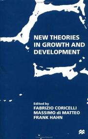 Cover of: New theories in growth and development |