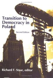 Cover of: Transition to democracy in Poland |