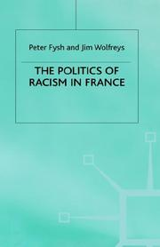 Cover of: The politics of racism in France