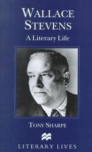Cover of: Wallace Stevens | Tony Sharpe