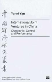 Cover of: International joint ventures in China