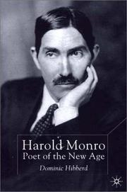 Cover of: Harold Monro | Dominic Hibberd