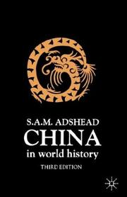 Cover of: China in World History | Samuel Adrian M. Adshead
