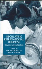 Cover of: Regulating International Business |