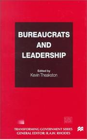 Cover of: Bureaucrats and Leadership (Transforming Government)