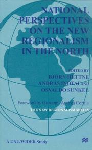 Cover of: National Perspectives On the New Regionalism in the North |