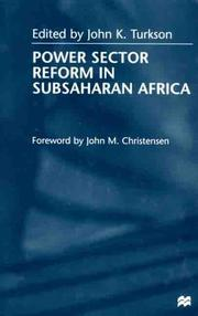 Cover of: Power sector reform in SubSaharan Africa |