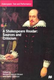 Cover of: A Shakespeare reader