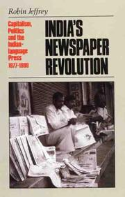 Cover of: India's newspaper revolution
