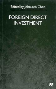 Cover of: Foreign Direct Investment | John-ren Chen