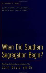Cover of: When did southern segregation begin