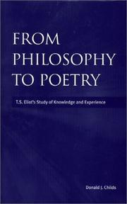 Cover of: From philosophy to poetry