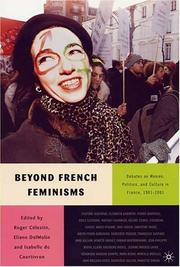Cover of: Beyond French Feminisms | Roger Celestin