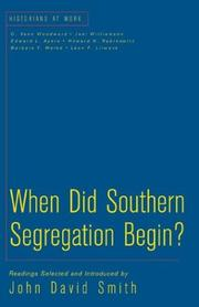 Cover of: When did southern segregation begin?
