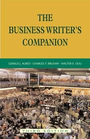 Cover of: The business writer's companion