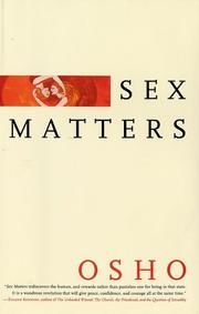 Cover of: Sex Matters: From Sex to Superconsciousness