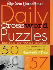 Cover of: The New York Times Daily Crossword Puzzles, Volume 57 (New York Times Daily Crossword Puzzles) | New York Times