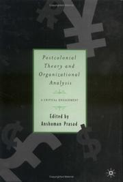 Cover of: Postcolonial Theory and Organizational Analysis