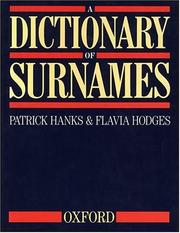 Cover of: A dictionary of surnames