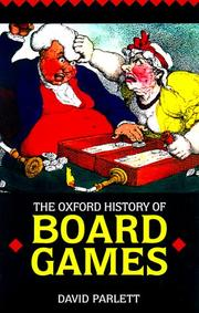 Cover of: The Oxford history of board games