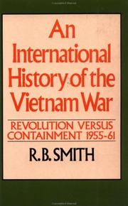 Cover of: An International History of the Vietnam War, Vol. 1 | R. B. Smith