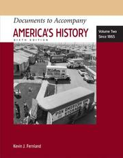 Cover of: Documents to Accompany America