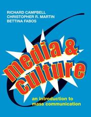 Cover of: Media & Culture: An Introduction To Mass Communication
