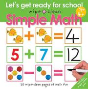 Cover of: Wipe Clean Simple Math (Wipe Clean) | Roger Priddy