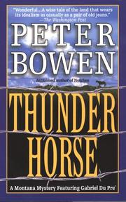 Cover of: Thunder Horse (Montana Mysteries)