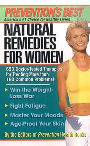 Cover of: Natural remedies for women |