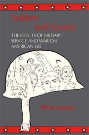 Cover of: Soldiers and society