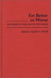 Cover of: For better or worse