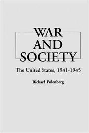 Cover of: War and society