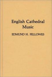 Cover of: English cathedral music