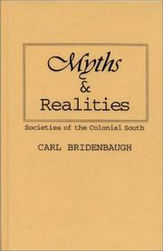 Myths and realities by Carl Bridenbaugh
