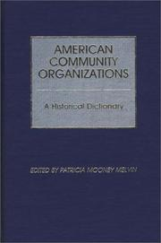 Cover of: American community organizations |