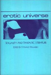 Cover of: Erotic universe |