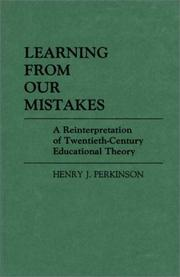 Cover of: Learning from our mistakes